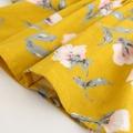 Stylish Floral Ruffled Long-sleeve Dress for Baby Girl/Girl