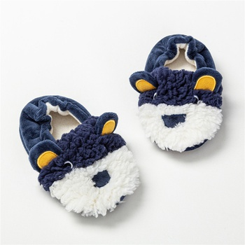 Toddler / Kid Animal Dog Ear Embroidered Fleece Casual Home Slippers