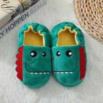 Toddler / Kid Animal Dinosaur Velvet Thermal Casual Slippers