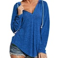 Chic Solid Long-sleeve Hooded Top