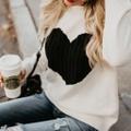 Charming Heart Design Sweater