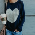 Charming Heart Design Sweater