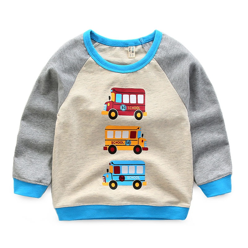 99fb036c8 Baby Stylish Color-blocking Truck Print Pullover in Blue for Toddler ...