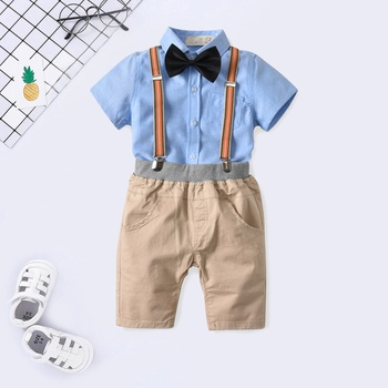bcdc63853 Baby / Toddler Black Bow Tie Shirt and Suspender Shorts Set