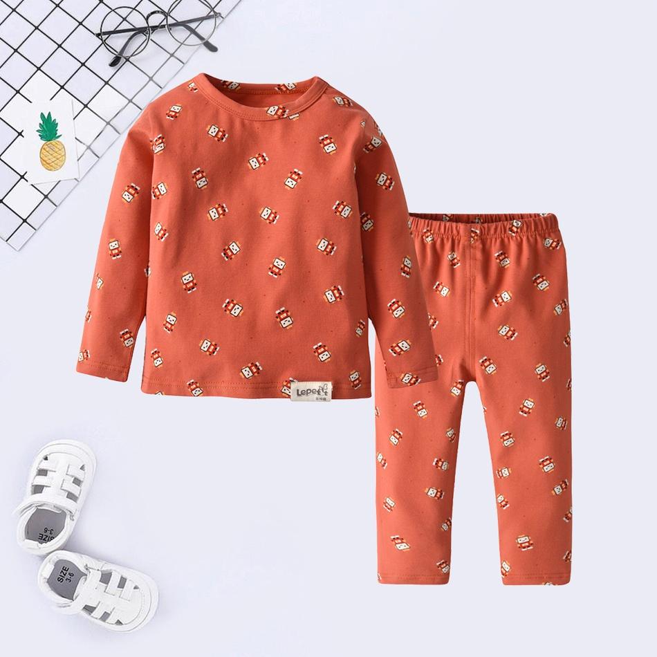1307544b1d89 Baby Baby / Toddler Robots Print Top and Pants Pajamas Set at PatPat.com