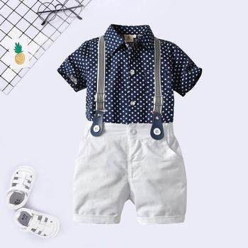 746b1ac9d bebé / niño pequeño caballero lunares camisa y pantalon corto liga