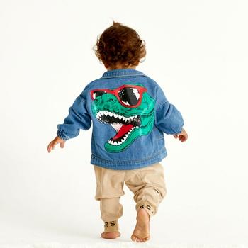 Baby / Toddler Trendy Dinosaur Print Denim Jacket