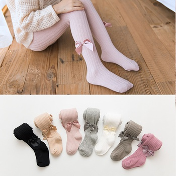 Simple Pid Bowknot Decor Dancing Leggings