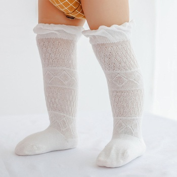 Baby / Toddler Solid Ruffled Middle Stockings