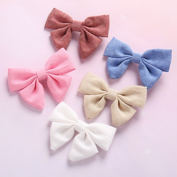 Pretty Solid Bowknot Hairpins for Girls