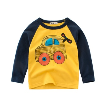 Baby / Toddler Boy Letter Print Long-sleeve Tee
