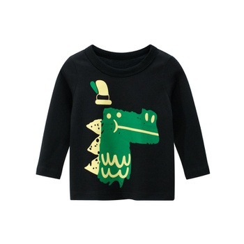 Baby / Toddler Boy Animal Dinosaur Pattern Long-sleeve Tee