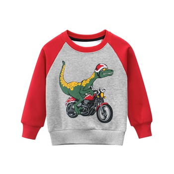 Baby / Toddler Cartoon Dinosaur Print Long-sleeve Pullover