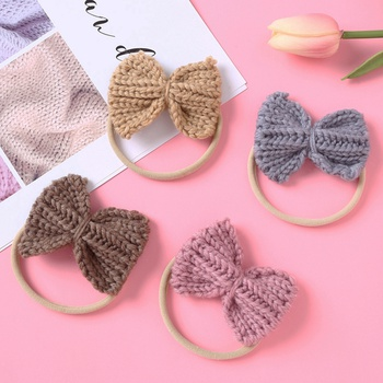 4-pack Knitted Bowknot Hairbands for Girls