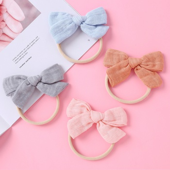 4-pack Solid Bowknot Hairbands for Girls
