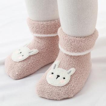 Baby / Toddler Fleece Cartoon Thermal Socks