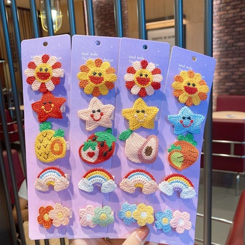 5-pack Cute Cartoon Floral Hairbands for Girls
