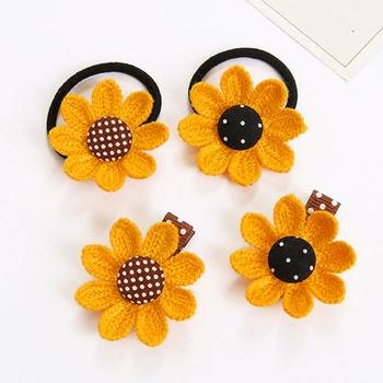 4-pack Sunflower Hairbands for Girls