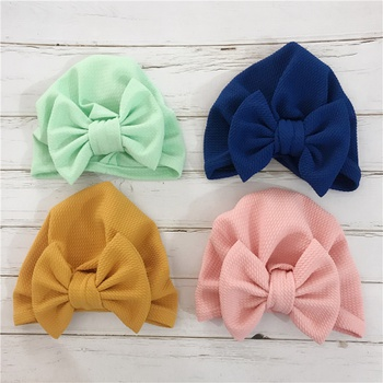 Baby/ Toddler Girl's Solid Big Bowknot Decor Hat