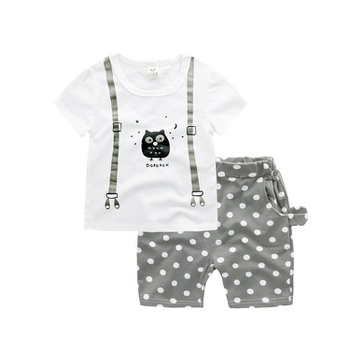 6a1fc421378a Cute Owl Print Short-sleeve T-shirt and Dotted Shorts Set for Toddler Boy  and Boy.  17.99  24.99. Size  12-18 ...