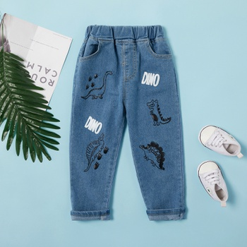 Baby / Toddler Adorable Dinosaur Decor Jeans