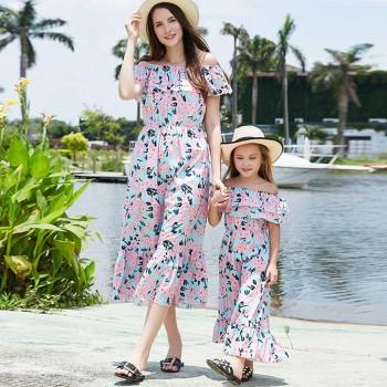 78995ed3ae71 Fresh Floral Off Shoulder Dress for Mom and Me