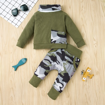2pcs Baby Boy casual Camouflage Baby's Sets