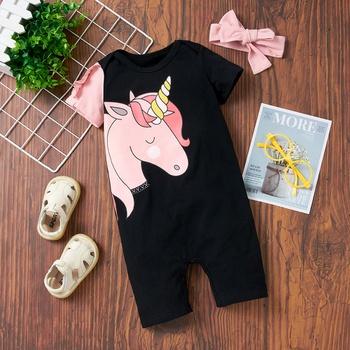 Baby Girl casual Animal & Unicorn Jumpsuits
