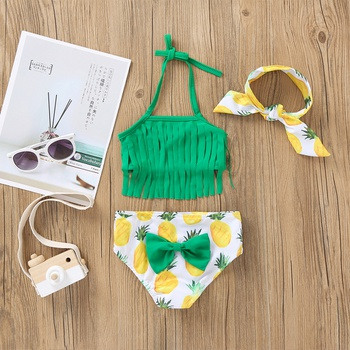 3-pcs Baby Girl Fruit Swimsuit