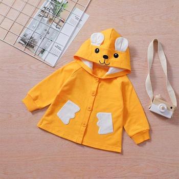 1pc Baby Unisex casual Long-sleeve Cotton Hooded  Animal & Rabbit Coat & Jacket