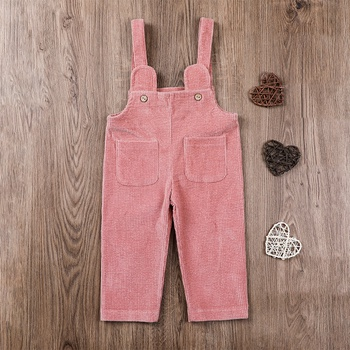 1pc Baby Girl Cotton  straight Overalls