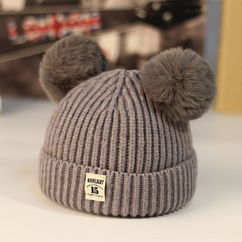 d5226af1253 Cute Knitted Solid Pompom Decor Hat for Baby