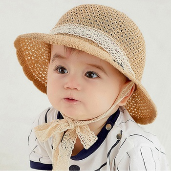 3197341ce06 Baby   Toddler Baby   Toddler s Lace Decor Sunproof Hat
