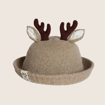 Baby Christmas Elk Decor Bucket Hat