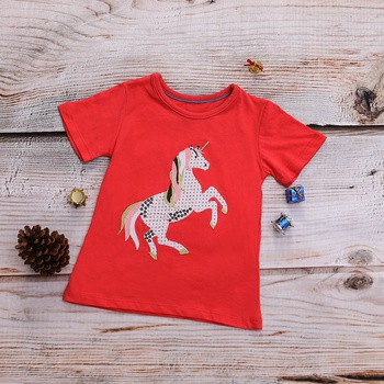 Casual Pony Embroidered Short-sleeve T-shirt for Baby and Toddler