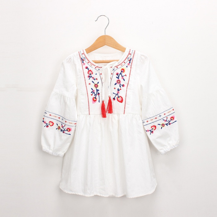 a7ea2dadf1 Kid Delicate Embroidered Long-sleeve Dress for Toddler Girl and Girl at  PatPat.com