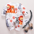 Stylish Animal Printed Long-sleeve Jumpsuit for Baby