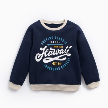 Boys Letter and Figure Printed Sweatshirt