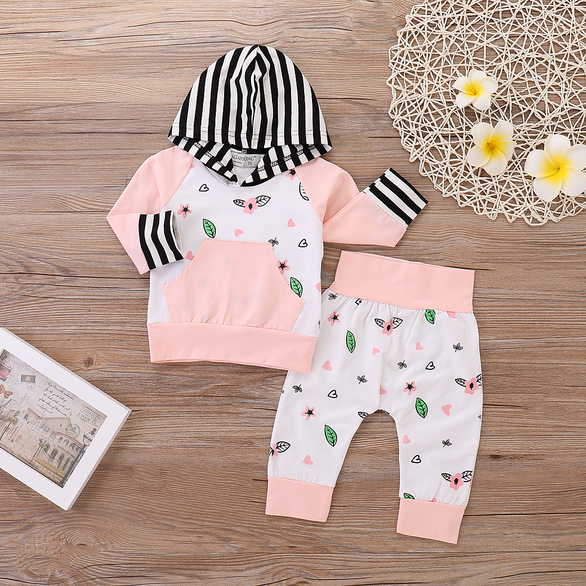 Baby & Toddler Clothing Brand New Baby Girls Size 6-9 Months Blue Flowered Bow Top & Cat Jeans Set Outfits & Sets