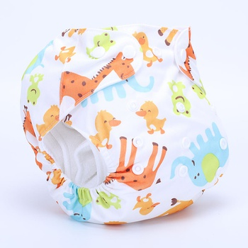 Reusable Washable Adjustable Giraffe Print Cloth Diaper