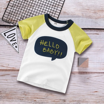 Casual Hello Baby Splice Tee for Toddler and Kid