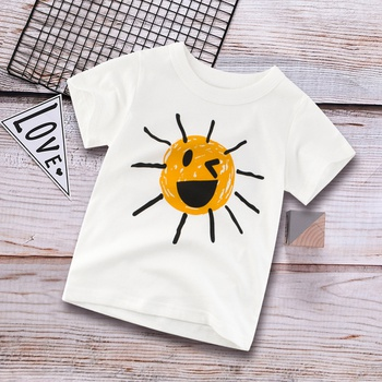 Funny Sun Short-sleeve Tee for 1.5-9 Years Kid