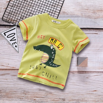Little Dino Print Short-sleeve Tee