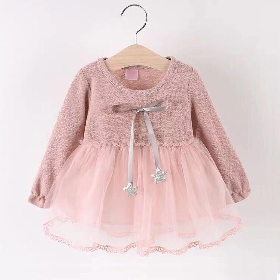 64a01a0186e Baby Baby/ Toddler Girl's Star Tie Tulle Dress at PatPat.com