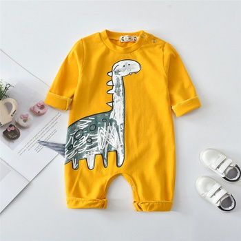 Trendy Dinosaur Design 3D Tail Long-sleeve Jumpsuit