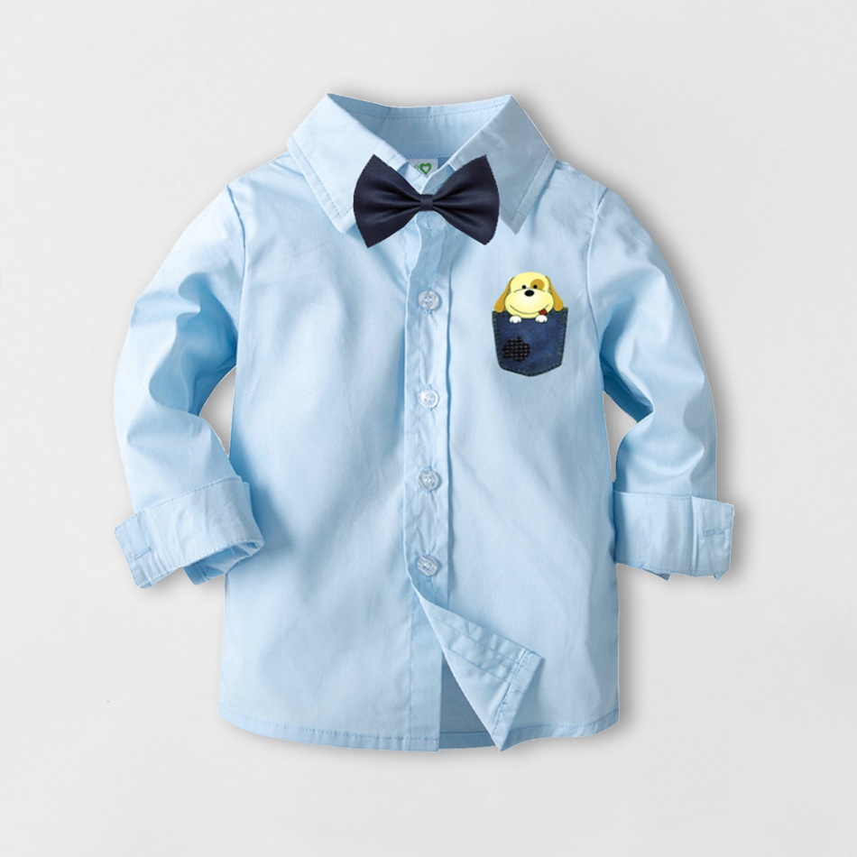 3afcf04c Toddler Dog Print Long Sleeve Shirt with Bow Tie at PatPat.com