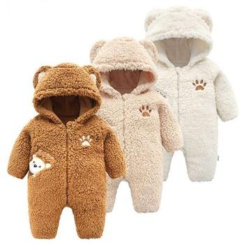 Trendy Bear Design Long-sleeve Jumpsuit for Baby Boy / Girl