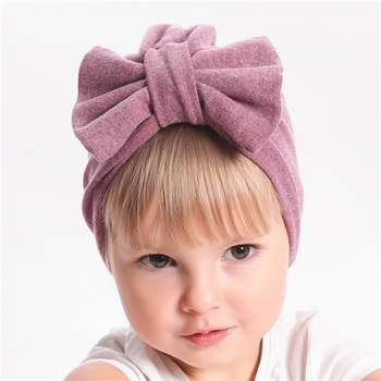 Toddler Girls Bow Multi-color Hat