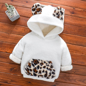 Baby Girl casual Leopard Pullovers & Hoodies Long Sleeve Infant Clothing Outfits