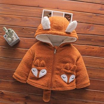 Baby / Toddler Cartoon Fox Fluff Hooded Coat